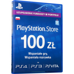 Karta Playstation Network 100 zł SONY 711719893332