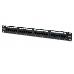 "Patch panel DIGITUS 24 1U 19"" Kat.5e U/UTP DN-91524U-EC"