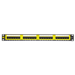 "Patch panel NETRACK 24 1U 19"" Kat.6 UTP 104-06"