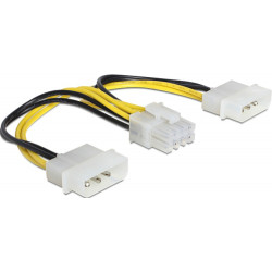 Kabel DELOCK 8Pin Eps(F) -2x Molex 4Pin 83410