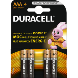 Baterie DURACELL Alkaliczna AAA (LR03, R03, 24A, MN2400, AM4, UM4, HP16) 4 szt. MN2400 (K4) Copper and Black