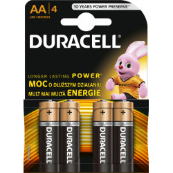 Baterie DURACELL Alkaliczna AA (LR06, FR6, R6, 15A, MN1500, AM3, UM3, HP7) 4 szt. MN1500 (K4) Copper and Black