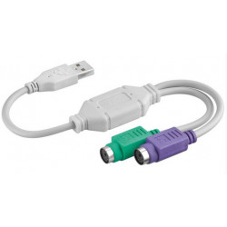 Adapter AKYGA USB Typ A - 2x PS/2 AK-AD-15