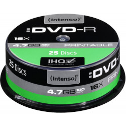 DVD-R INTENSO 4.7 GB 16x Cake Box 25  szt.